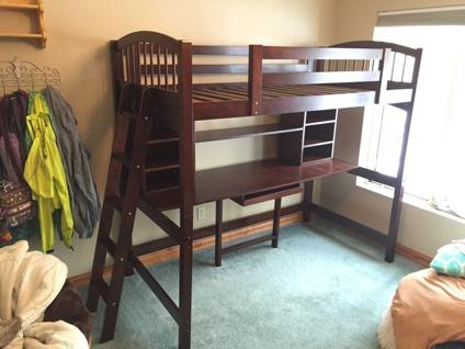 Twin Size Loft Bed For Sale In Iron Mountain Michigan