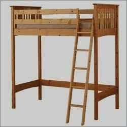 Twin Wood Loft Bunk Bed and Mattresses - $115 (Elk Gore