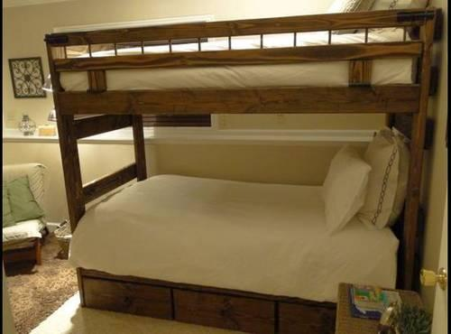 twin xl over twin xl bunk bed optional trundle drawers for sale in deer valley utah. Black Bedroom Furniture Sets. Home Design Ideas