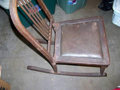 TWO - 1920's Simons metal childs rocker => or best