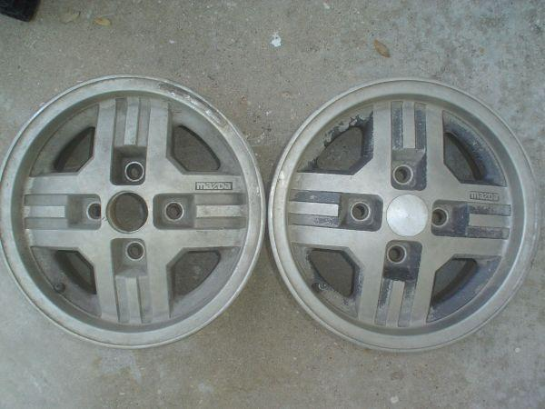 Two 1980's Mazda Alloy Wheels - $50