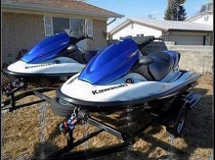 two 2006 kawasaki stx 12f jet skis with trailer for sale in kilmarnock virginia classified. Black Bedroom Furniture Sets. Home Design Ideas