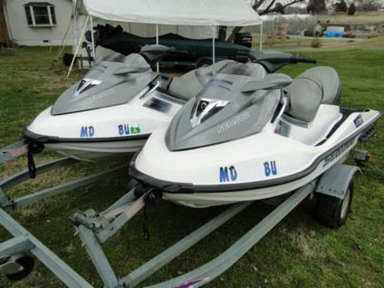 Two 2006 Sea Doo Super Charged GTX 4TEC Jet Skis Includes 2006 Load Rite  Trailer
