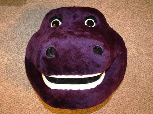 Adult barney costume dinosaur purple and have