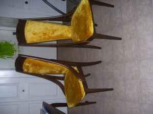 Two Antique Gold High Back Sitting Chair Canandaigua
