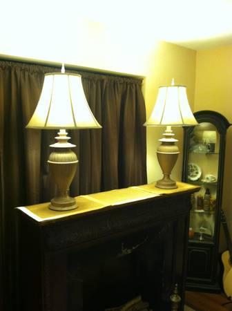 Two Beautiful Asian Table Lamps - $100