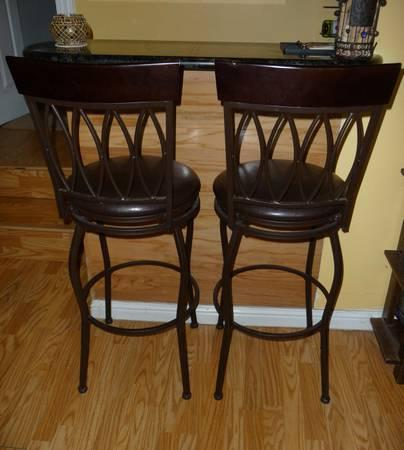 Two Beautiful Swivel Bar Stools For Sale For Sale In