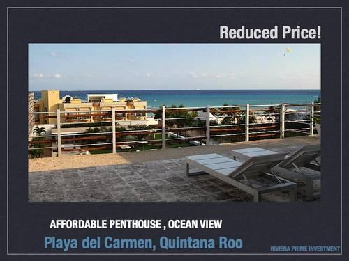 two bedroom penthouse ocean view mayan riviera for sale