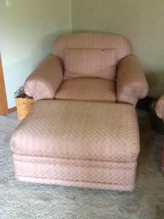 Two Matching Henredon Chairs W Ottomans For Sale In