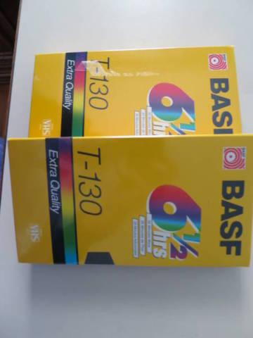 Two New BASF T-130 Extra Quality Stereo Sealed VHS