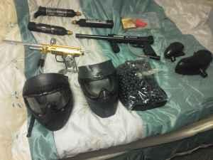 two paint ball guns and gear to go with - $200 fairbanks