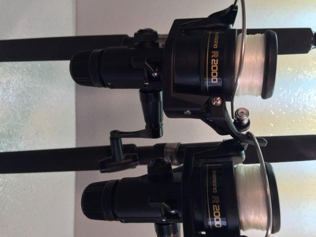 Two Shimano 6' FXS Spinning Rod & IX2000R Reel Combos