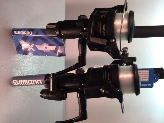 Two Shimano 6½' FXS Spinning Rod & IX2000R Reel Combos