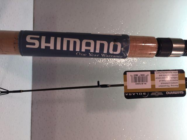 Two Shimano 7' Solara SLS-70M2 (2 pc) Spinning Rods