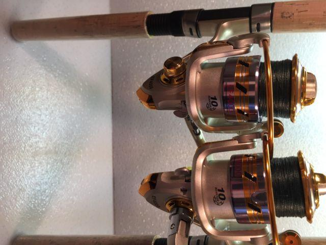Two Shimano Solara Rod and EF4000 (10 bb) Reel Combos