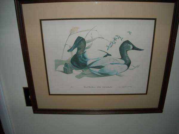 Two signed and Professionally Framed Robert Tolley Duck