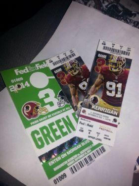Two tickets for Jaguars vs. Redskins, with parking pass