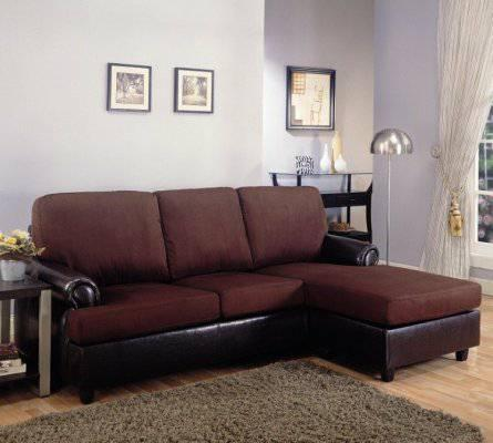 Two tone brown or red sofa w chaise on sale gtgt for sale for Red sectional sofa on sale