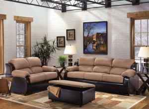 two tone living room set microfiber leather never used can deliver massachusetts for. Black Bedroom Furniture Sets. Home Design Ideas
