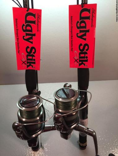 Two Ugly Stik GX-2 and Shimano Sienna 4000FD Spinning