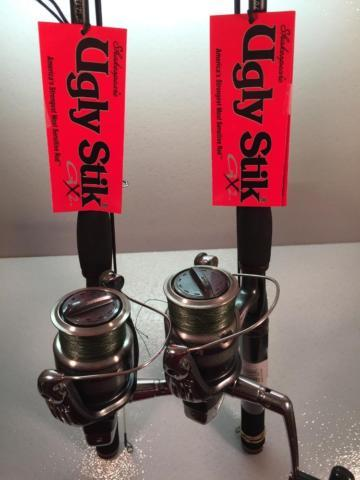 Two Ugly Stik GX-2 & Shimano Sienna 4000FD Reel Combos
