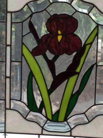 Two Unique Fairy paintings and Leaded Glass Flower