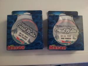 Two unopen boxes of trolling  Surfing fishing line - $35 anchorage