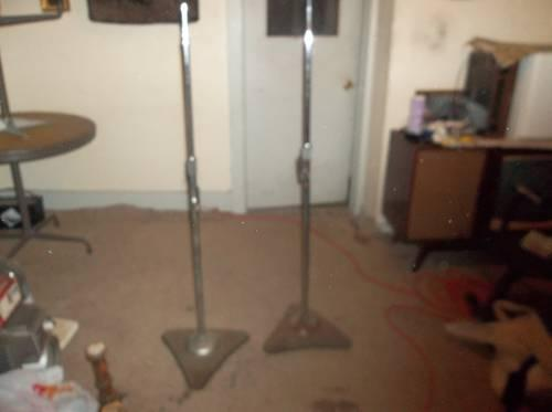 Two Vintage Atlas Sound Corp Speaker Stands Or Microphone