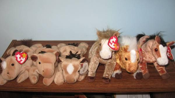 Ty Beanie Babies Horses, Farm Animals, Pigs, Goat, Cow, $1.00 each - $1