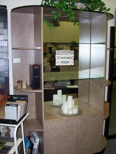Quot U Quot Shape Display Cabinet Beauty Salon Equipment For