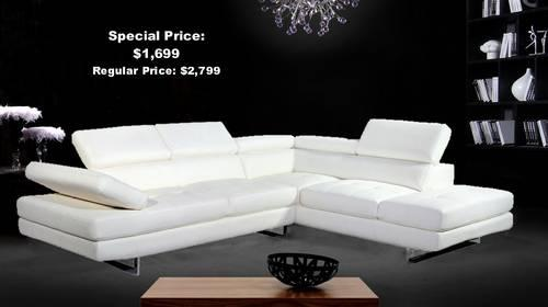 Magnificent Ultra Modern Italian Style White Or Black Leather Sectional Theyellowbook Wood Chair Design Ideas Theyellowbookinfo