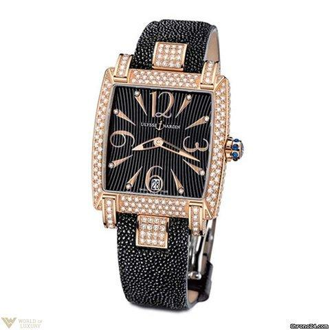Ulysse Nardin Caprice Rose Gold 18K Full Diamonds Black
