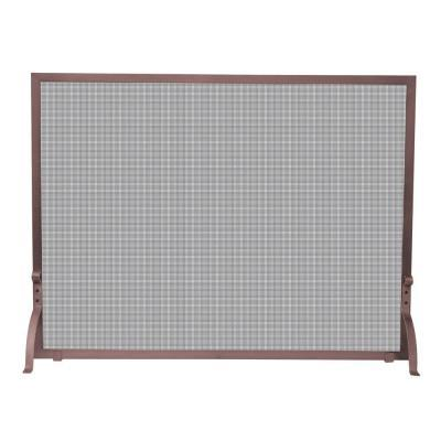 Uniflame Antique Copper Single Panel Fireplace Screen For Sale In Jacksonville Florida