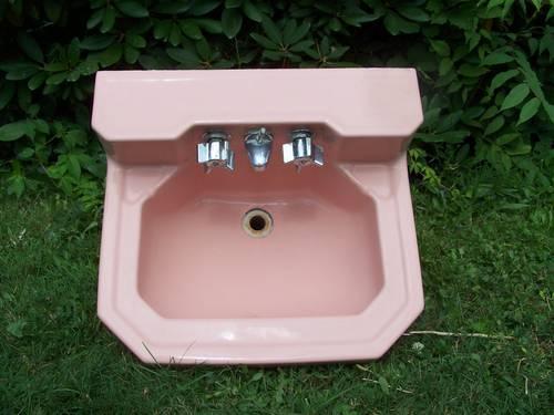 Unique Antique Pink Or Rose Bathroom Sink Vintage Retro