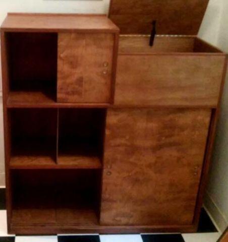Unique Mid Century Cabinet Shelves Media Storage For Sale