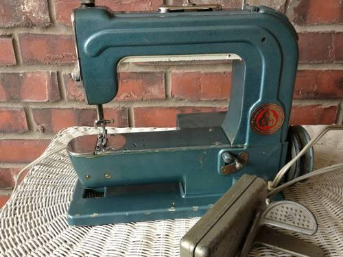 Unique Vintage Portman Sewing Machine--similar to Elna