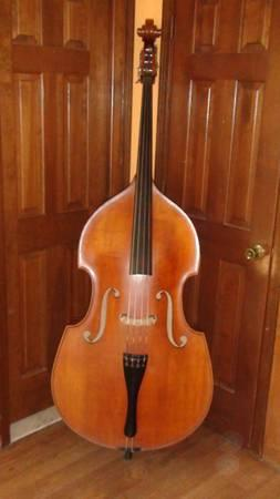 Upright Double Bass 1984 Rubner and German Bow - $5000