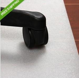 US $24.99 with free shipping Home office Hard protect wood Floor PP Computer Chair Mat Car