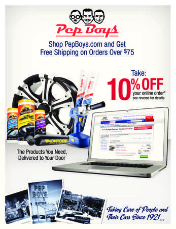 Pepboys Promo Code >> Use Promo Code Pepsave10 At Pepboys Com For 10 Off Your