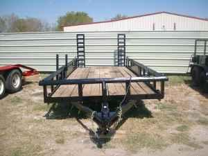 Used 18ft Pipe-top Utility Trailer w/Fold-up Ramps -