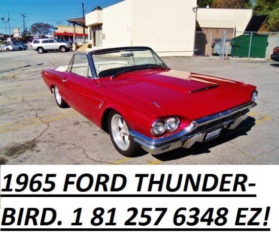 used 1965 ford thunder bird conv 45 939 miles bad credit 180 cars ez for sale in glendale. Black Bedroom Furniture Sets. Home Design Ideas