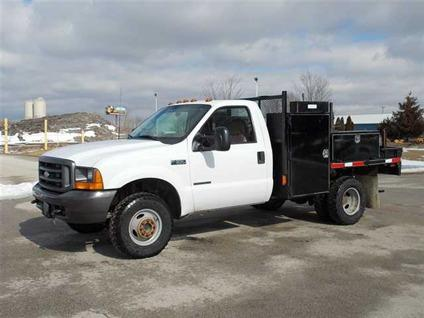 used 2000 ford super duty f 350 4x4 f350 flatbed truck wgooseneck hitch truck for sale in. Black Bedroom Furniture Sets. Home Design Ideas