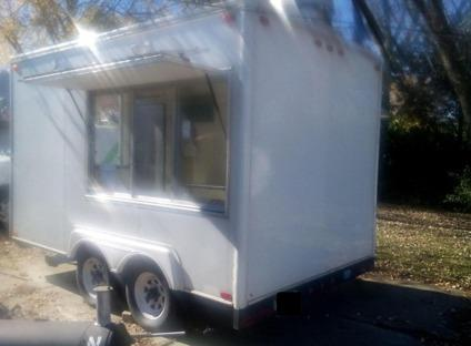 Used 2008 7X12 ENCLOSED CONCESSION FOOD TRUCK VENDING