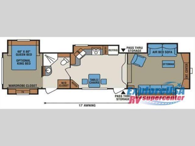 used 2013 kz stoneridge 38fl fifth wheel for sale in tyler texas classified. Black Bedroom Furniture Sets. Home Design Ideas