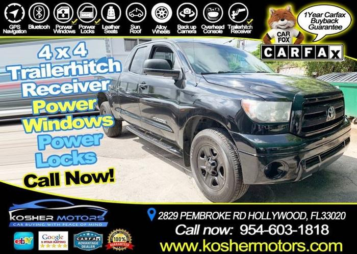 Used 2013 Toyota Tundra 4x4 Double Cab HOLLYWOOD, FL