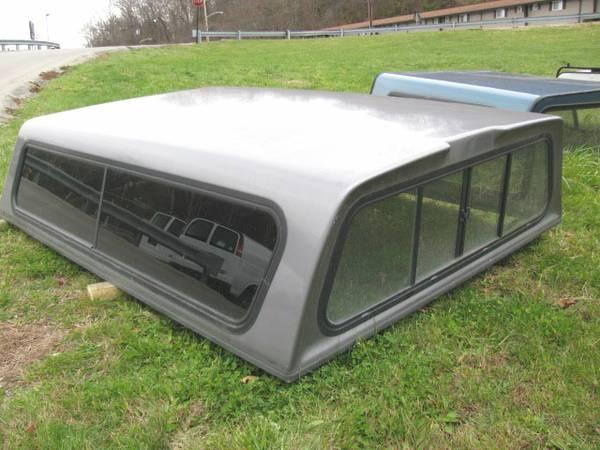 Used 8 Ft Gray Fiberglass A R E Truck Cap For Sale In