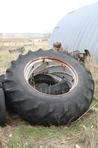 Used Allis Chalmers Rims and Tires 20.8-38 - $75 Ballantine