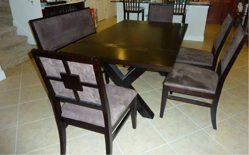 Used American Signature Furniture 6 Piece Dining Set For