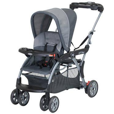Used Baby Trend Sit N Stand Lx Stroller W Car Seat Adapter