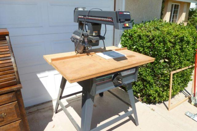 Used Craftsman 10 Radial Arm Saw On Table Stand For Sale In Moreno Valley California